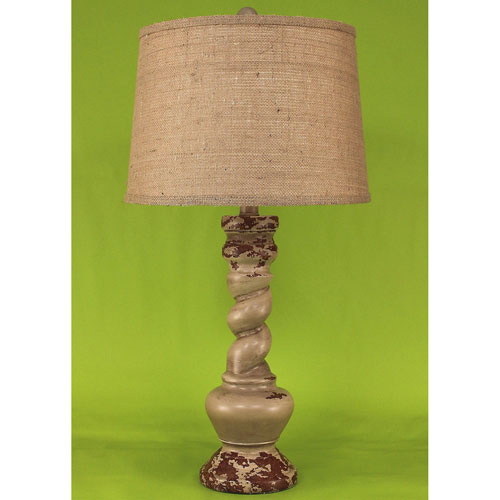 Coast Lamp Manufacturing Casual Living Aged Cottage One-Light Table Lamp