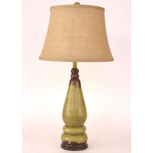 Coast Lamp Manufacturing Casual Living Aged Lime One-Light Table Lamp
