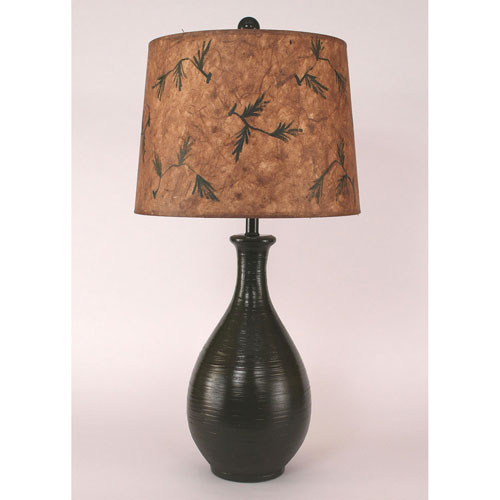 Rustic Living High Gloss Avocado Glaze One-Light Table Lamp