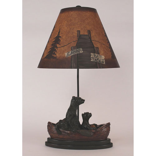 Coast Lamp Manufacturing Rustic Living Antique Riverwoods One-Light Table Lamp