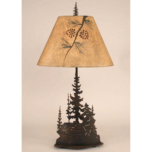 Rustic Living Burnt Sienna One-Light Table Lamp