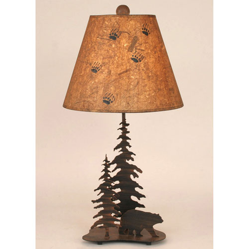 Coast Lamp Manufacturing Rustic Living Burnt Sienna One-Light Table Lamp