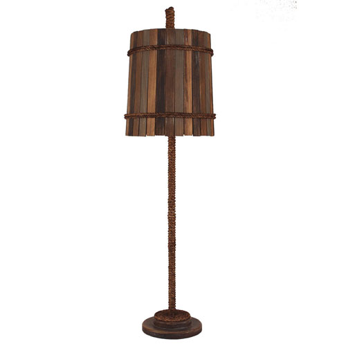 Coastal Living Dark Sandalwood One-Light Buffet Lamp