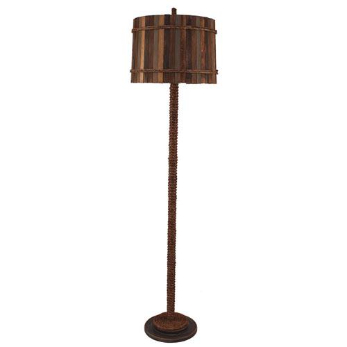 Coastal Living Dark Sandalwood One-Light Floor Lamp
