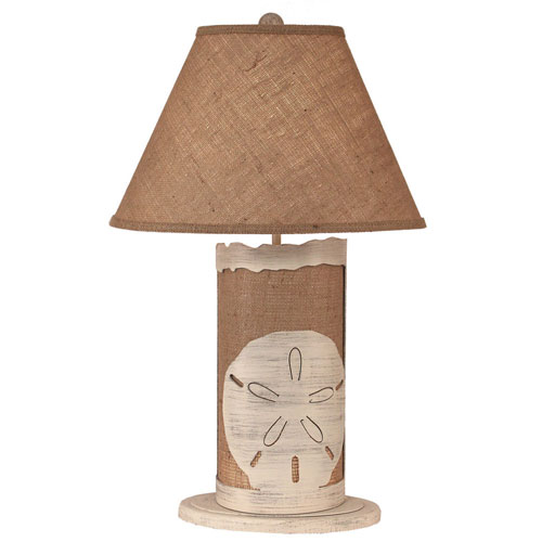 Coast Lamp Manufacturing Coastal Living Cottage and Burlap One-Light Table Lamp with Night Light