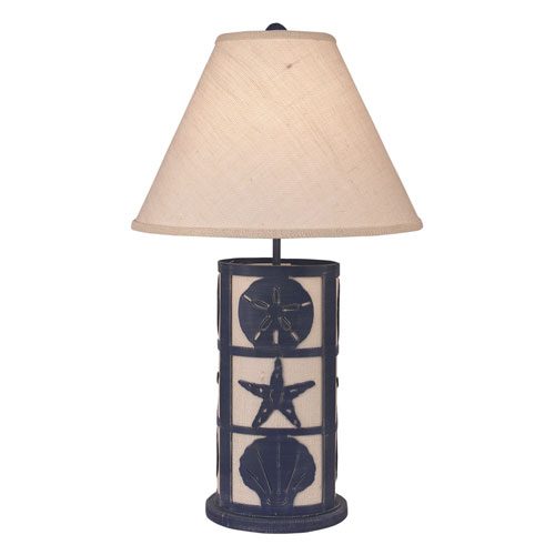 Coastal Living Weathered Morning Jewel One-Light Table Lamp with Night Light