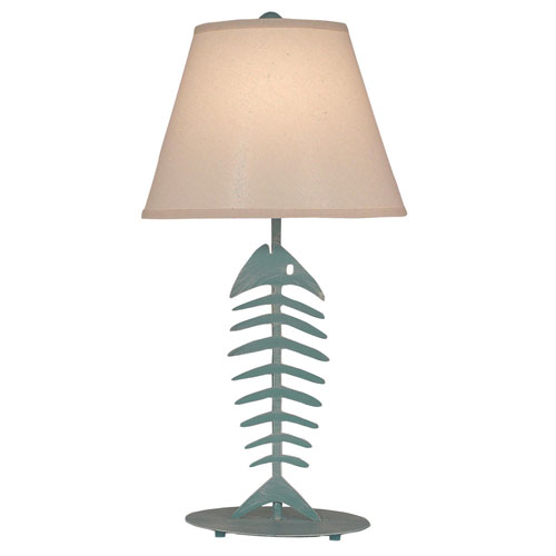 Coast Lamp Manufacturing Coastal Living Weathered Turquoise Sea One-Light Table Lamp