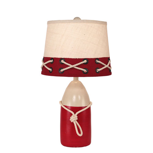 Coast Lamp Manufacturing Coastal Living Cottage and Brick Red One-Light Table Lamp