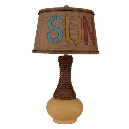 Coastal Living Weathered Yellow Gold One-Light Table Lamp