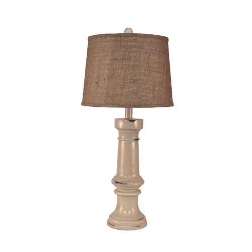 Rustic Living Distressed Cottage One-Light Table Lamp