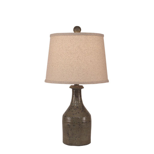 Coast Lamp Manufacturing Rustic Living Tarnished Pale Grey One-Light Table Lamp