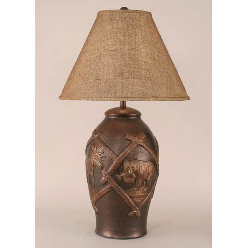 Rustic Living Bronze One-Light Table Lamp