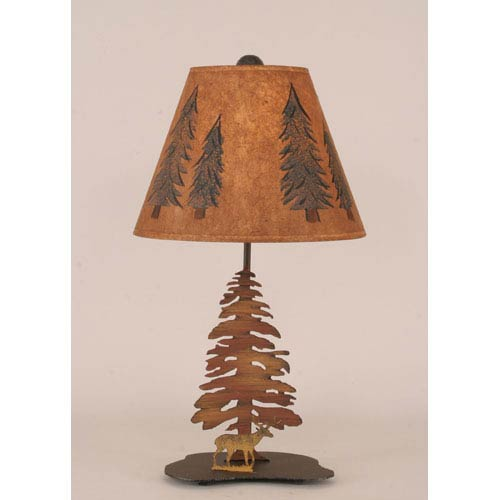 Coast Lamp Manufacturing Rustic Living Charred One-Light Table Lamp