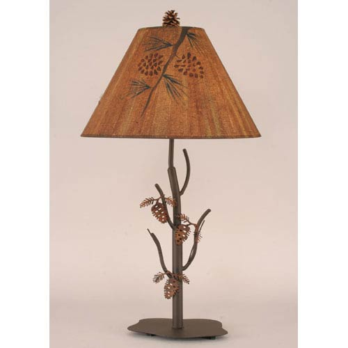 Rustic Living Charred One-Light Table Lamp