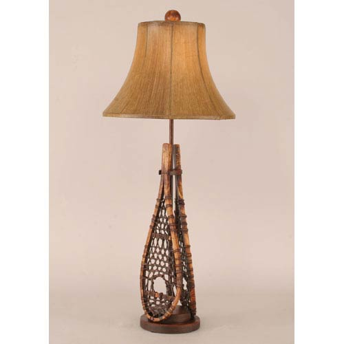 Rustic Living Stained One-Light Buffet Lamp