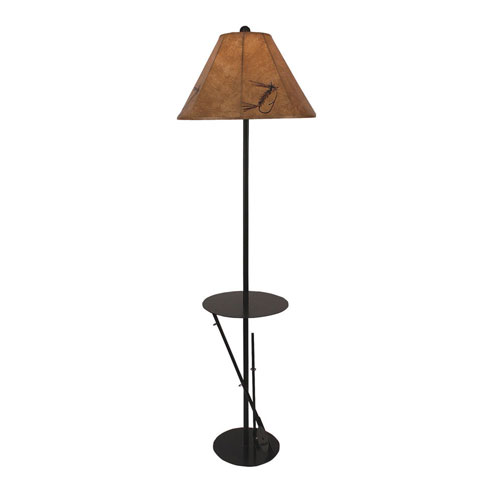 Rustic Living Rust One-Light Floor Lamp with Tray