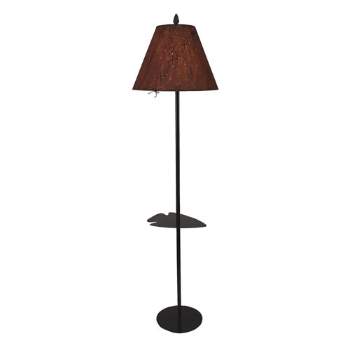 Coast Lamp Manufacturing Rustic Living Kodiak One-Light Floor Lamp with Tray