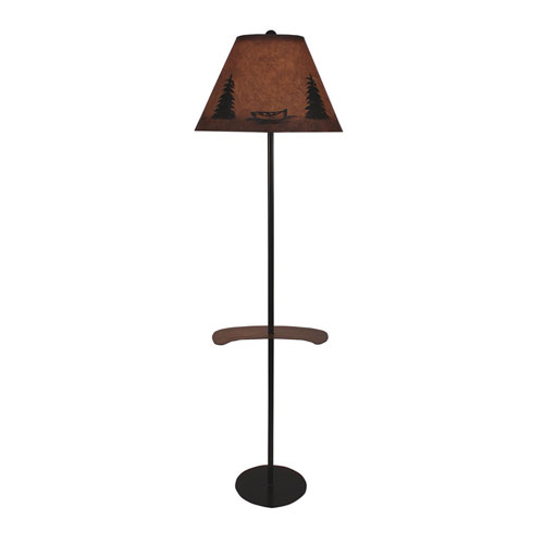 Rustic Living Kodiak And Honey One Light Floor Lamp With Tray
