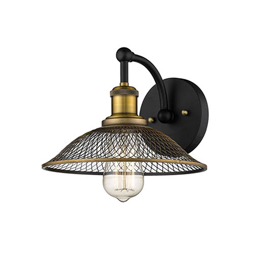 Matte Black and Heirloom Bronze One-Light Wall Sconce