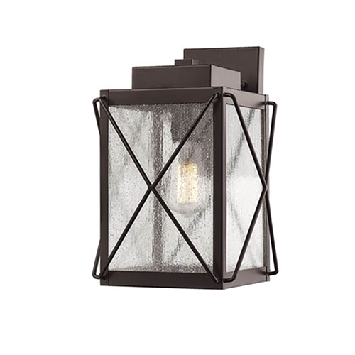 Powder Coat Bronze Eight-Inch One-Light Outdoor Wall Sconce