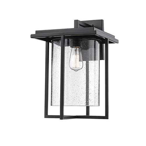 Powder Coat Black 11-Inch One-Light Outdoor Wall Sconce
