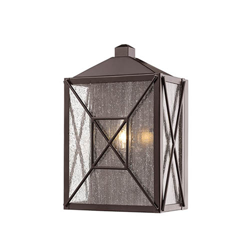 Powder Coat Bronze Five-Inch One-Light Outdoor Wall Sconce