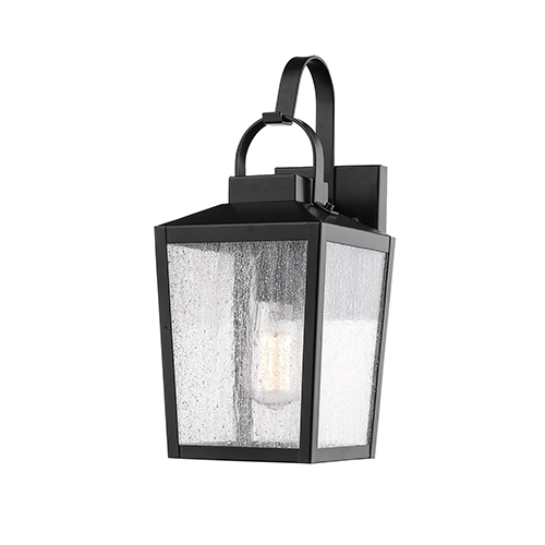 Powder Coat Black Seven-Inch One-Light Outdoor Wall Sconce