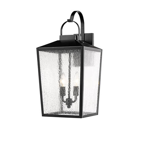 Powder Coat Black 10-Inch Two-Light Outdoor Wall Sconce
