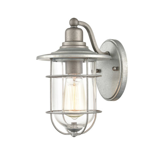 Galvanized Seven-Inch One-Light Outdoor Wall Mount
