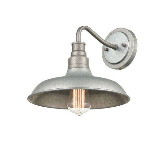 Galvanized One-Light Outdoor Wall Mount