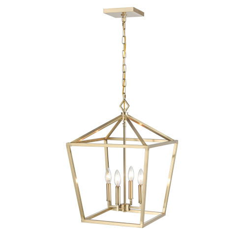 Modern Gold 16-Inch Four-Light Pendant