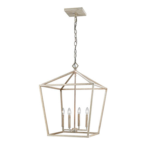 Vintage White 20-Inch Four-Light Pendant