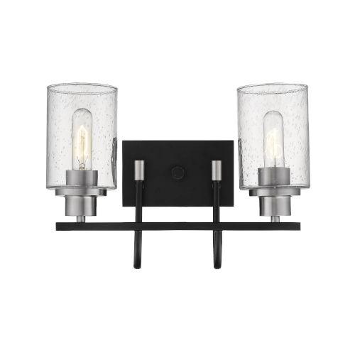 Millennium Lighting Clifton Matte Black and Brushed Nickel Two-Light Vanity