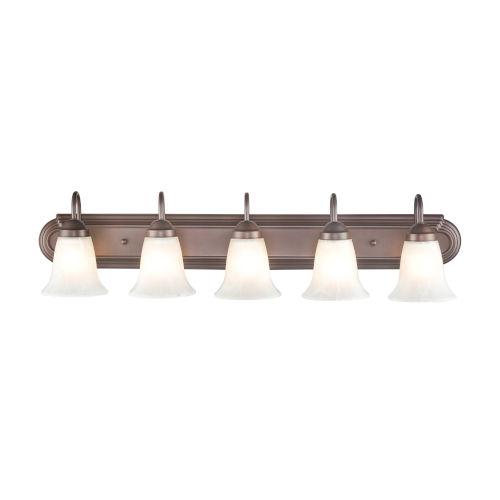 Bronze Five-Light Bath Vanity