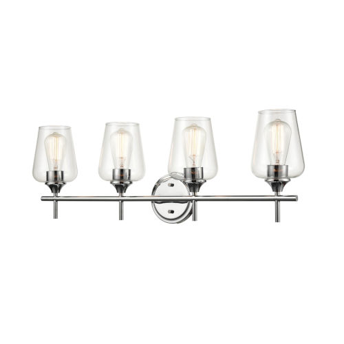 Ashford Chrome Four-Light Bath Vanity