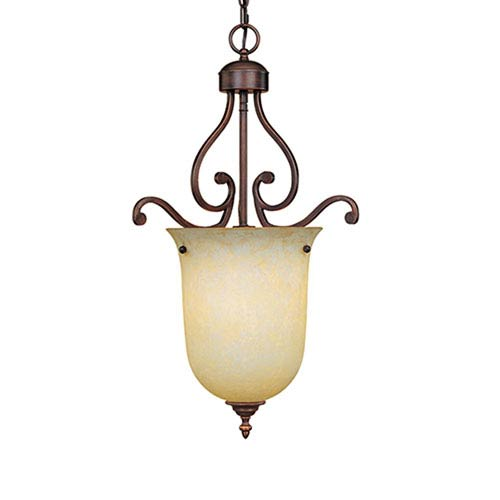 Millennium Lighting Courtney Lakes Rubbed Bronze One Light Pendant With Turinian Scavo Gl