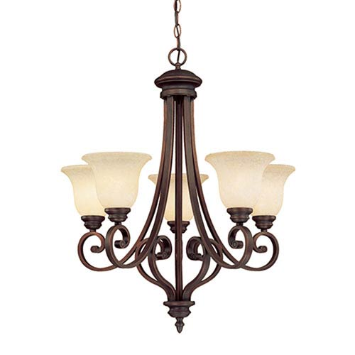 Bronze oil rubbed chandeliers free shipping bellacor oxford rubbed bronze five light chandelier with turinian scavo glass aloadofball Images