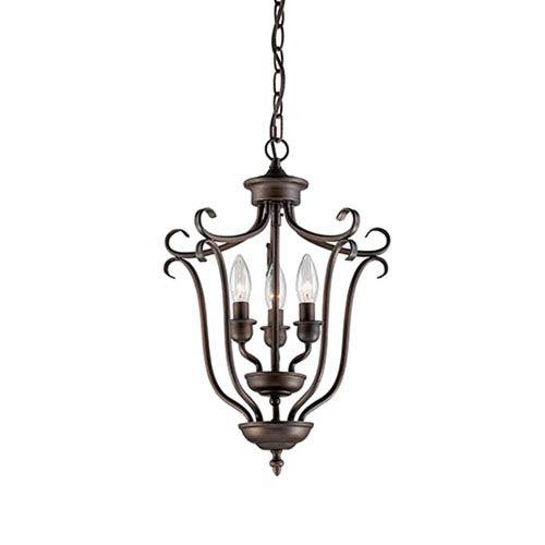 Fulton Rubbed Bronze Three-Light Pendant