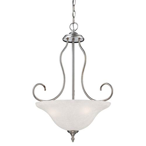 Millennium Lighting Cleveland Satin Nickel Three Light Pendant with Light India Scavo Glass