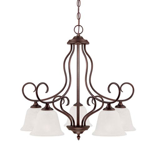 Millennium Lighting Cleveland Rubbed Bronze 25.75 x 23.62-Inch Five Light Chandelier