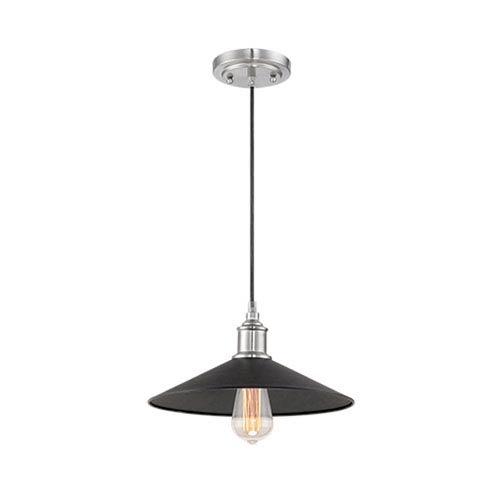 Black 12.5-Inch One-Light Mini Pendant