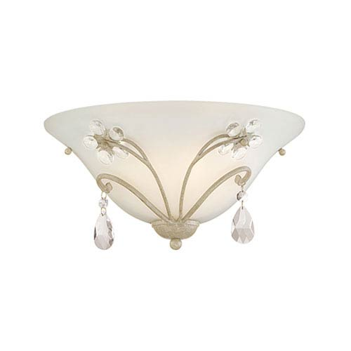 Millennium Lighting Clara Antique White One Light Sconce with Etched White Glass