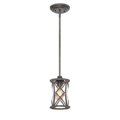 Lakewood Antique Silver 6-Inch One-Light Mini Pendant