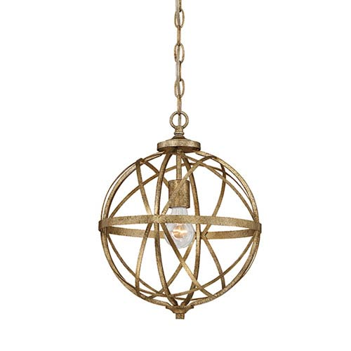 Millennium Lighting Lakewood Vintage Gold One-Light Pendant