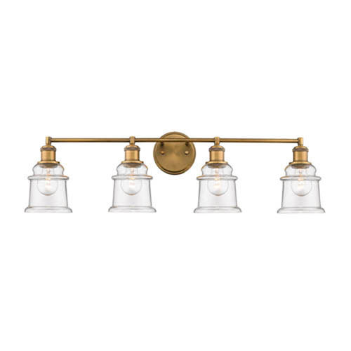 Millennium Lighting Heirloom Bronze Four-Light Vanity with Clear Glass