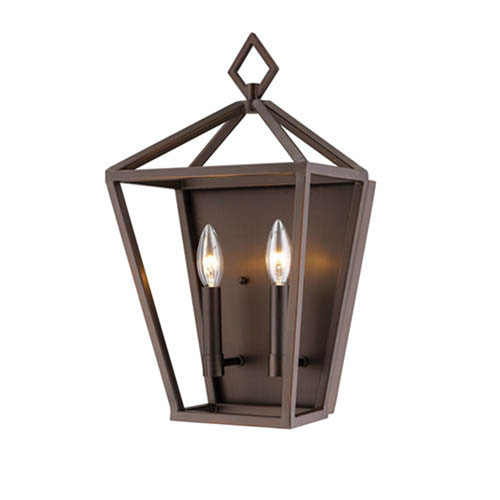 Millennium Lighting 2572-RBZ Corona Rubbed Bronze Two-Light Wall Sconce