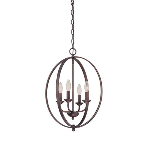 Millennium Lighting Rubbed Bronze 16-Inch Four-Light Pendant
