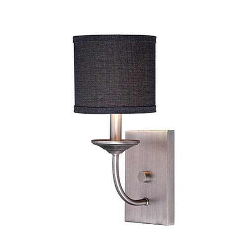Jackson Brushed Pewter 14.5-Inch One-Light Wall Sconce with Charcoal Shade