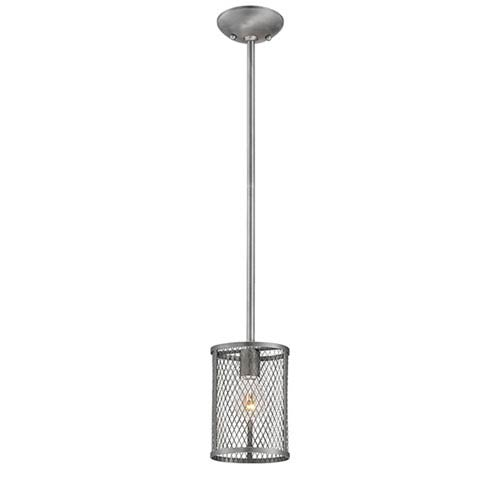 Akron Brushed Pewter One-Light Mini Pendant