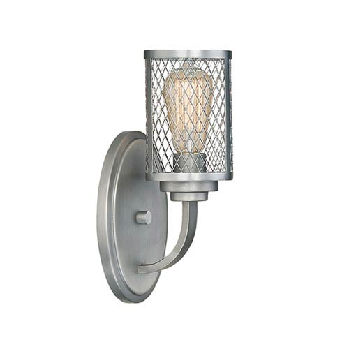 Akron Brushed Pewter One-Light Sconce
